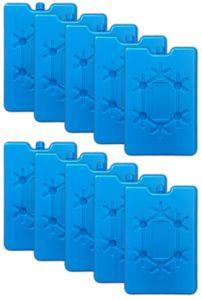 10er Set Flache Kühlelemente blau Kühlakkus Kühlbox Kühlpads Kühltasche