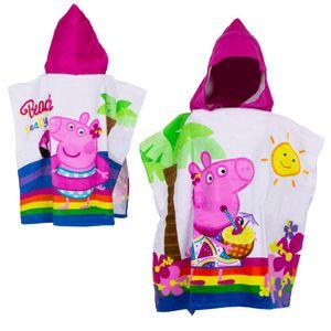 Nickelodeon poncho Peppa Pig 60 x 120 Baumwolle rosa