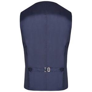 Größe 27 WILVORST After Six Hotline Drop8 Weste Blau mit floralem Muster Einreiher 5-Knopf Leistentaschen
