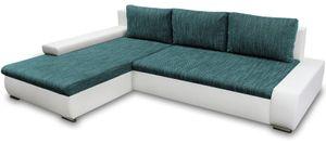 Marine Ecksofa TEO - Couch mit Bettkasten, Schlaffunktion Polsterecke Wohnzimmer