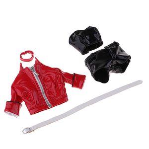 1/6 Kurze Lederjacke Kurzhose Gürtel Halskette Bekleidung Set für 12 Zoll weibliche Action Figur