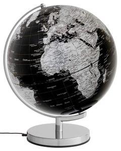 emform Globus 30cm beleuchtet Stellar Light black, schwarz, politisch