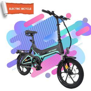 Elektrofahrrad Klappbares Ebike ,LCD display Klapprad 16 Zoll mit 36V 7.5Ah Lithium-Akku, 250 W Motor 25 km/h, Elektrische E-Bike  für Herren Damen Mountainbike