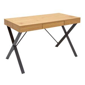 Industrial Schreibtisch STUDIO 110cm Eichenoptik mit Schublade Tisch Schminktisch