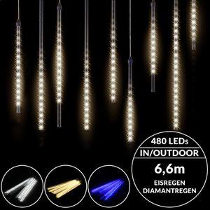 LED Lichterkette Diamantenregen Lichterregen Meteorschauer Außen Weihnachtsdeko, Farbe:blau