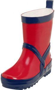 Playshoes Gummistiefel uni rot/marine Mädchen 184399-643, Größe:32/33, Farbe Playshoes:rot/marine