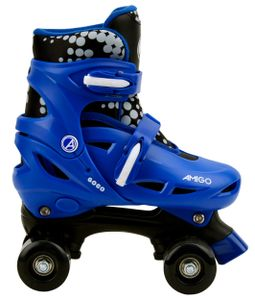 AMIGO Gogo Rollschuhe - Roller Skates für Kinder mit Einstellbarer Größe - ABEC7 Rollen - Blau - Größe 34-37