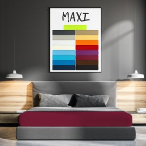 Mikrofaser Serie Maxi Bordeaux 200 x 200 cm