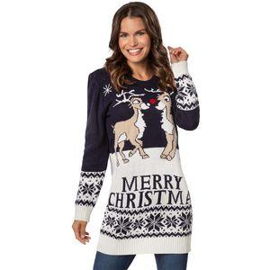 dressforfun Weihnachtspullover Merry Christmas für Frauen - M