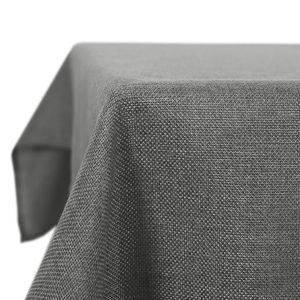 Kartokner Leinenoptik Tischdecke Wasserabweisend Tischwäsche Lotuseffekt 140x200 cm Grau