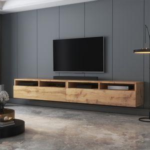 Selsey TV-Schrank  REDNAW - modernes TV-Board in Wotan Eiche Matt, stehend / hängend, 200 cm breit