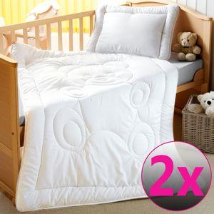 Kinderbettenset Teddy 100x135cm 2er Set  - Bettdecke und Kopfkissen aus kuschelweichem Mikrofaser