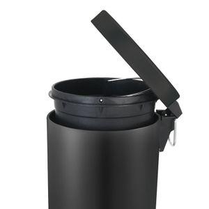 Tritt-Mülleimer 20 Liter - Schwarz