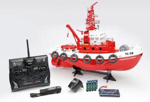 Carson RC Feuerlöschboot TC-08 2.4GHz 100% RTR Ferngesteuertes Boot mit Spritzfunktion