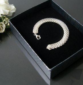 Silberarmband Geflecht 10mm-breit 19cm-lang 925 Sterling Silber ES5059