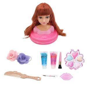 Schminkkopf Frisierkopf für Mädchen Frisierpuppe Styling-Kopf Kinder Make-up Farbe EIN