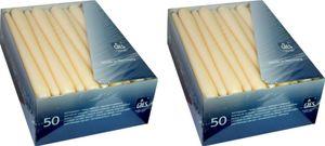 Gies Premium Spitzkerzen 100 Stk. (2x50) , 24,5 x 2,35 cm, champagner
