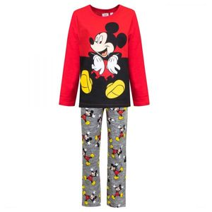 Disney Mickey Schlafanzug, rot-grau, Gr. 98-128 Größe - 6 Jahre