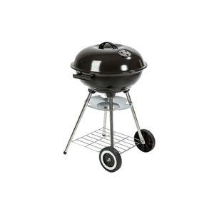 Barbecue mit Deckel und Rädern - Metall - Durchmesser 44 cm