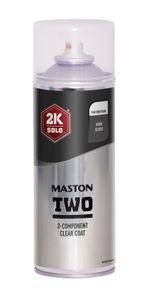 2K Polyurethan Klarlack Spraydose 400ml Glänzend Benzinfest Maston Spraydose Lack