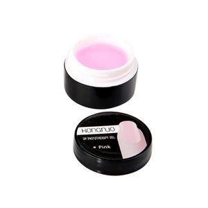 1 Stueck Pink UV Gel Crystal Nails Transparentes UV Builder Gel fuer French Art Tips Manikuere Set Extension Gel