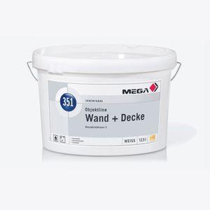 MEGA 351 Objektline Wand + Decke 12,5 Liter weiß