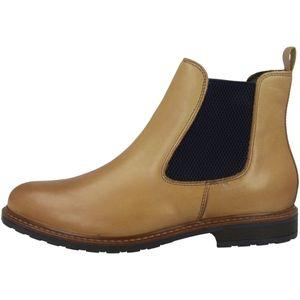 Tamaris Damen Stiefeletten Chelsea Boots Leder 1-25056-25, Größe:38 EU, Farbe:Braun