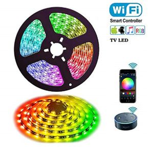 2 Meter LED Stripe Band RGB Beleuchtung Kette Bluetooth TV Band App steuerbar
