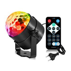 LED Party Licht Discokugel Lichteffekte Musikgesteuert mit Fernbedienung für Partys Hochzeit Geburtstagsfeier DJ-Beleuchtung Festival Karaoke Bars Clubs