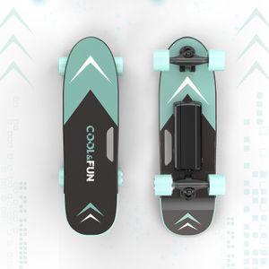 Elektrisches Skateboard Longboard 4 Räder Mini Board Lg Batterie Mit Fernbedienung Grün