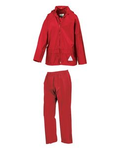 Result Uni Regenanzug Junior Waterproof Jacket & Trouser Set R95J Rot Red S (5-6)