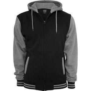 Urban Classics 2-Tone Zip Hoody, Größe: L; Farbe: Black/Grey