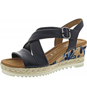 Gabor Comfort Tunis Sandalette blau Größe 4, Farbe: midnight (KoFlo