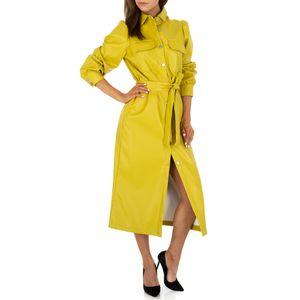 Ital-Design Damen Kleider Cocktail- & Partykleider Olive Gr.s