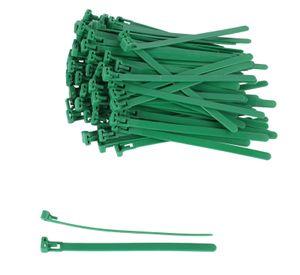 Bradas Kabelbinder wiederverwendbar in verschiedenen Größen - grün 100 Stück, Größe:3.6 x 100mm