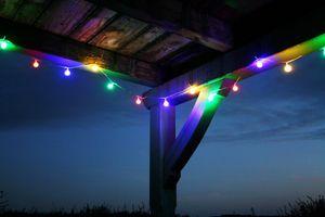 LED Lichterkette 10m Bunte LEDs 50er Partylichterkette Gartenlicht Partylichterkette Licht Außen