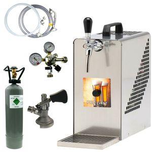 Bierkühler Bierzapfanlage 30 Liter/h - KOMPLETTSET - KEG Flach - CO2 2,0 kg
