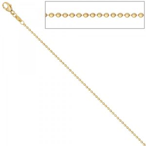 JOBO Kugelkette 585 Gelbgold 42 cm Gold Kette Halskette Karabiner