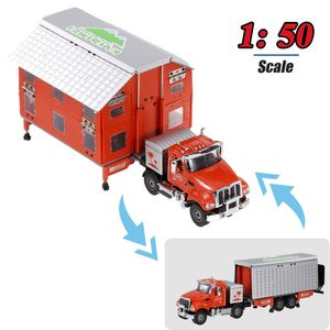 Modellauto-Transformations-LKW im Massstab 1:50 Freizeitfahrzeug 2-Form-Autos Toy Engineering Toy Vehicle Cars fuer Maedchen Jungen