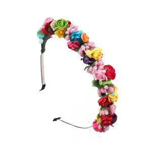 Haarreif Festival Blumen Blüten Rosen Haarschmuck Stirnband Haarreif Blume
