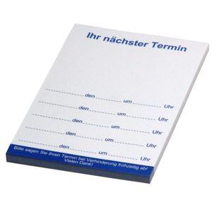 25 Terminblöcke blau nächster Termin Terminkarten 74x105 mm