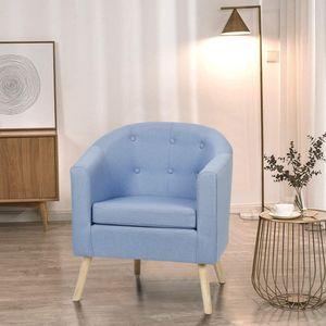 √BESTSELLER!!! Chesterfield Sessel Loungesessel Cocktailsessel Armsessel, Wohnzimmer Möbel (Einzelsofastuhl ) |Blau