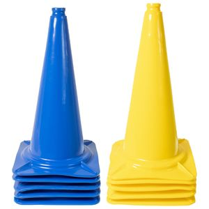 Dönges XXL Leitkegel Pylonen Hütchen Kegel 50 cm Pferdetraining 5x Blau 5x Gelb