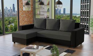 Mirjan24 Ecksofa Vibo, Stilvoll Eckcouch mit Bettkasten und Schlaffunktion, L-Form Couch, Schlafsofa vom Hersteller (Alova 04 + Alova 36)