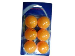 6 Tischtennisbälle / Farbe: gelb