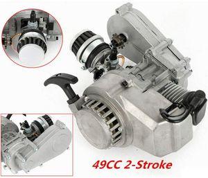 Motor 2-Takt 49CC Mini Pocketbike Pocket Bike Einzylinder  Motor  Startmotor Zugstartmotor  mit Getriebe Vergaser Satz Luftfilter   Mini-Rennrad ATV Roller