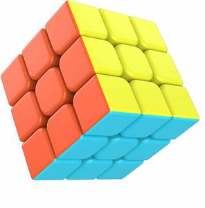 Zauberwürfel 3x3x3 magisch Würfel Speed Cube mit einstellbaren Dreheigenschaften-ohne Aufklebe Kinder Geschenk