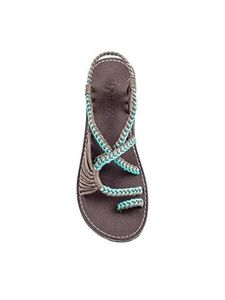 Abtel Damen Flache Sandalen Sommer Open Toe Round Toe Atmungsaktiv,Farbe:Grün,Größe:40