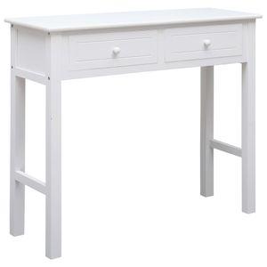 【Neu】Beistelltische Konsolentisch Weiß 90×30×77 cm BEST SELLER- Holz Gesamtgröße:90 x 30 x 77 cm BEST SELLER-Möbel-Tische-Ziertische-Beistelltische im Landhaus-Stil