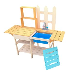 Outdoor Kinderküche Spielküche Matschküche Garten Holz Gartenküche Kind